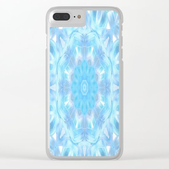 Soft Shades of Color Kaleidoscope Clear iPhone Case