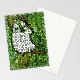 Little Bird In Tile Work Stationery Cards