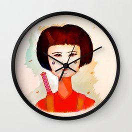 Ninja Girl Wall Clock