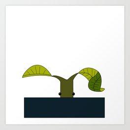 Pickett the Bowtruckle Art Print