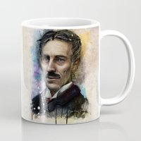 tesla Mugs featuring Nikola Tesla  by Philipe Kling