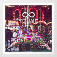 forever young Art Prints featuring Forever Young by farsidian