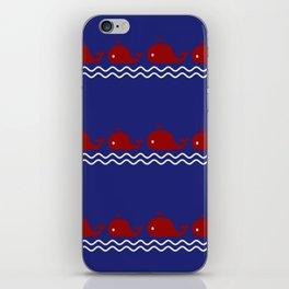 Nautical Mama Whale iPhone Skin
