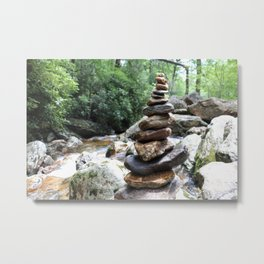 Rock Stack Falls Metal Print