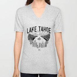 Lake Tahoe - We Who Wander Threads Unisex V-Neck