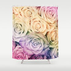 Some people grumble- Colorful Roses- Rose pattern Shower Curtain