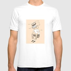 Hot dog bro 2X-LARGE Mens Fitted Tee White