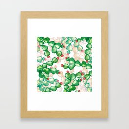 cactus with a red flowers Framed Art Print