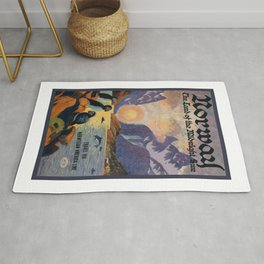 1925 Norway Land Of The Midnight Sun Travel Poster Rug
