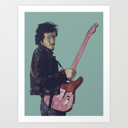 The Boss Bruce Art Print