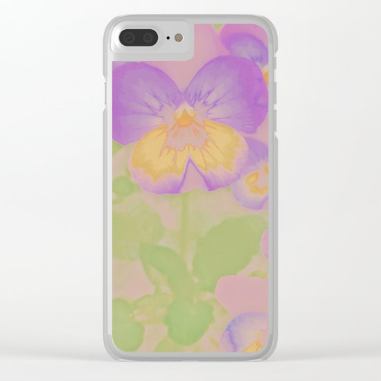 Pansies, The Earth Laughs In Flowers Clear iPhone Case