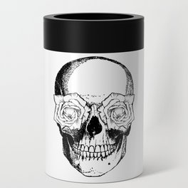 Skull and Roses | Black and White Can Cooler