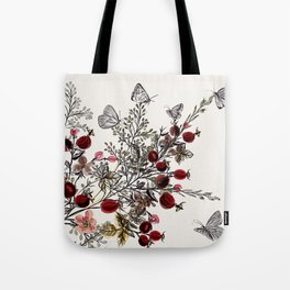 Watercolor floral background Tote Bag