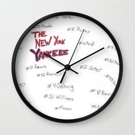 Yankees Retired Numbers Wall Clock