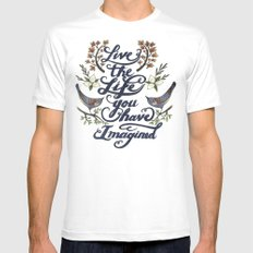Live the life you have imagined - Thoreau Mens Fitted Tee White MEDIUM