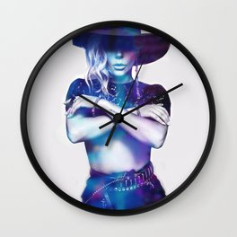 Crossed Arms Wall Clock