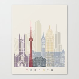 Toronto skyline poster Canvas Print