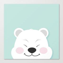 Polar Bear Smiles Canvas Print