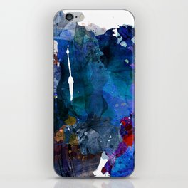 blue motion iPhone Skin