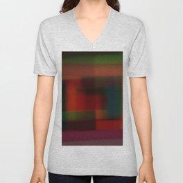 Blured squares Unisex V-Neck