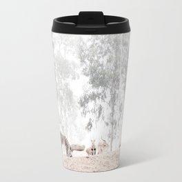Zebras - through the mist Travel Mug