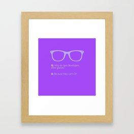 Plain Tees Framed Art Print