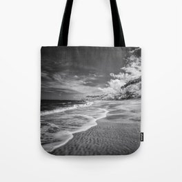 Desert Beach Black and White Tote Bag