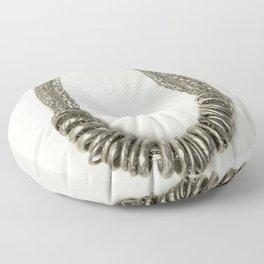 Mongolian silver necklace Floor Pillow