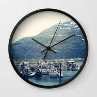 marina Wall Clocks featuring Marina by Megan Burgess