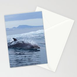 Dolphin: love for waves, love for life Stationery Cards