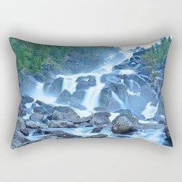 Uchar Waterfall on the Chulcha River, The Big Chulchinsky. Altai, Russia Rectangular Pillow