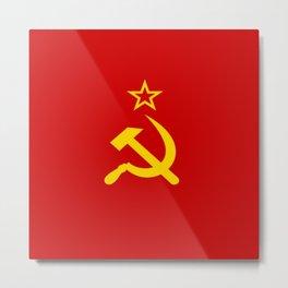 Flag of USSR Metal Print