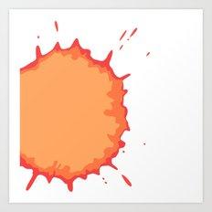Splat on White - by Friztin Art Print