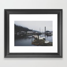 Boat Dock Framed Art Print