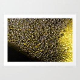 Enlightened Colony | Abstract Macro Photography | Yellow Art Print