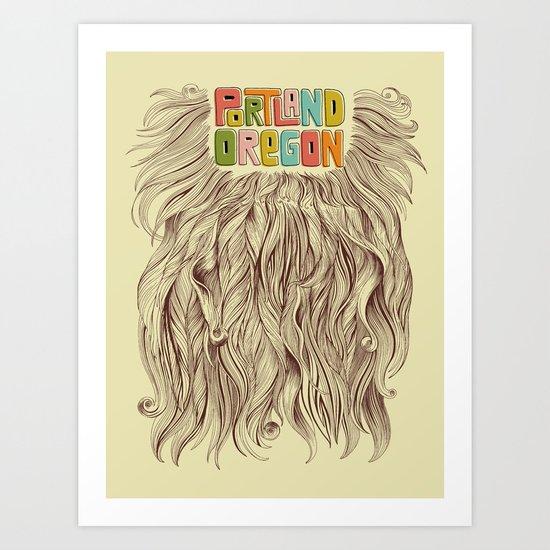 Portland = Beards Art Print
