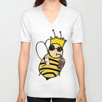 queen V-neck T-shirts featuring queen! by gasponce