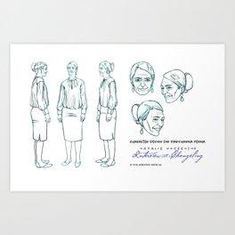 Darshanna Penna Character Design I Art Print