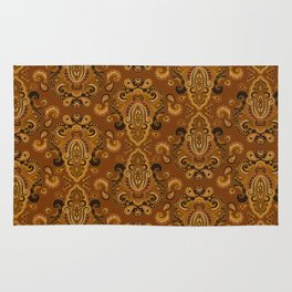 Golden Glow Paisely Rug