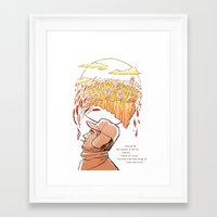 catcher in the rye Framed Art Prints featuring Catcher in the Rye by Colleen Clark