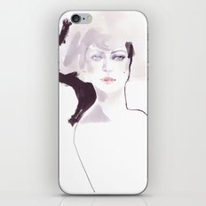Fashion illustration in pale colors iPhone & iPod Skin