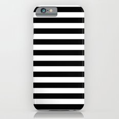 Modern Black White Stripes Monochrome Pattern iPhone 6 Slim Case