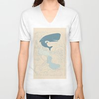 moby V-neck T-shirts featuring MOBY by T-Rexxx