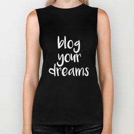 Blog Your Dreams Internet T-Shirt Biker Tank