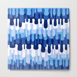 Funny Liquid Abstract Colorful Pattern 003 Metal Print
