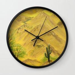 Wonderful desert mountains Wall Clock