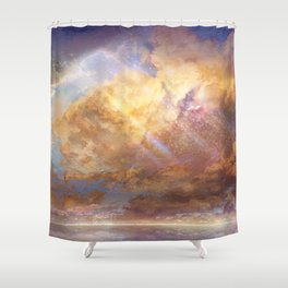 Sky-High Shower Curtain