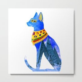 Egypt Cat Metal Print