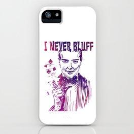 I never Bluff - poker, purple iPhone Case