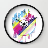 deadmau5 Wall Clocks featuring Urban Vinyl V2 by Sitchko Igor